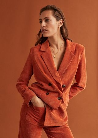 selection blazer velour orange